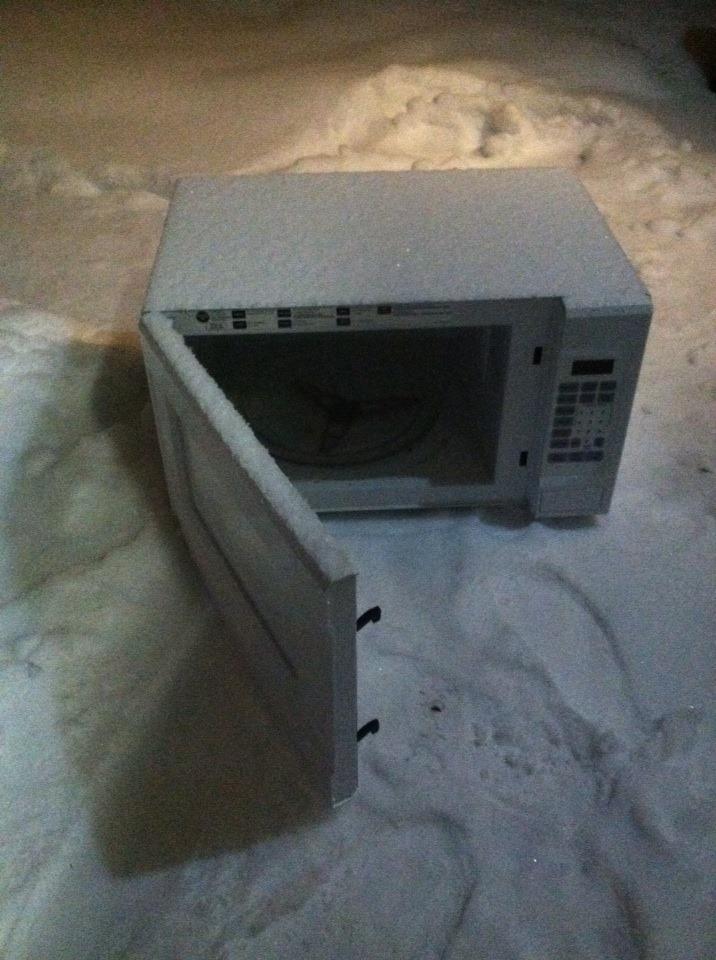 Snowy Microwave