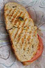 Portabella and Pesto Sandwich - Crescent Bakery