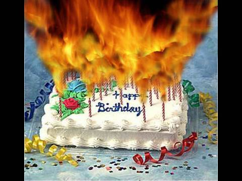 Cake on Fire CLip art kid