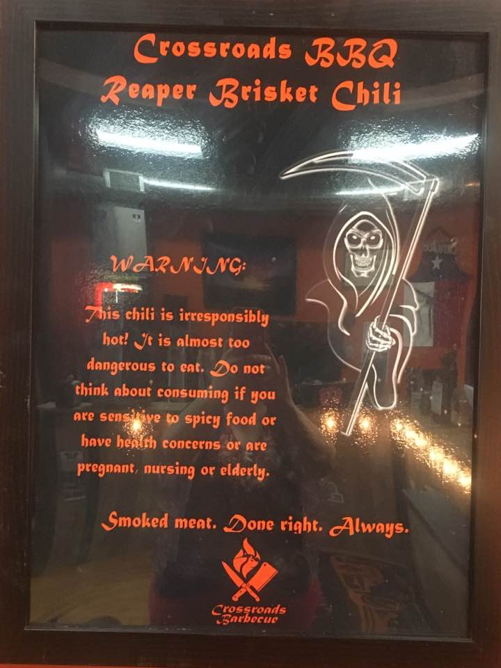 Reaper Brisket Chili - Disclaimer