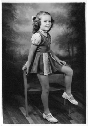 Mary, age 8 or 9, in her Beer Barrel Polka outfit.